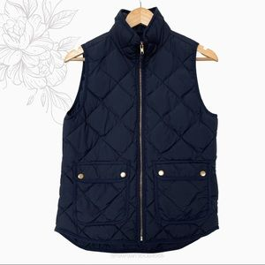 J. Crew | Navy Excursion Quilted Down Feather Vest